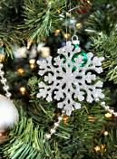 christmas tree geometric snowflake