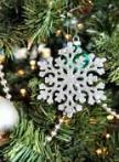 christmas tree geometric snowflake
