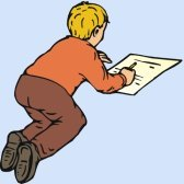 boy writing essay