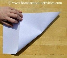 how to make paper airplanes step one