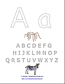 letter templates letter A