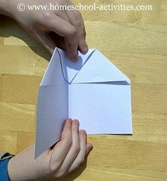 how to make paper airplanes step five