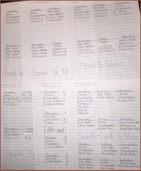 Jennifer's homeschool planner