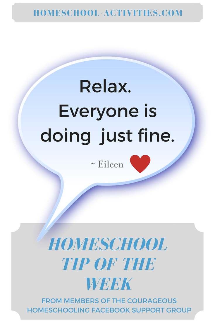 homeschool tip of the week