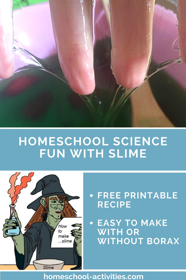 Slime recipe for home school science