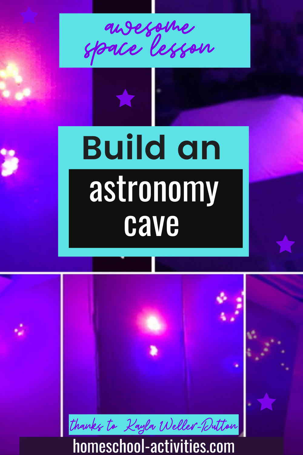 Build an astronomy cave with star constellations