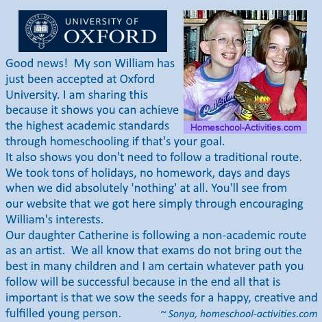 homeschooling and going to Oxford University