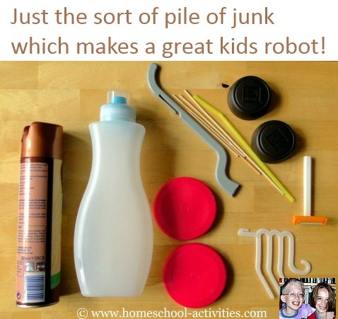 household junk to make a robot