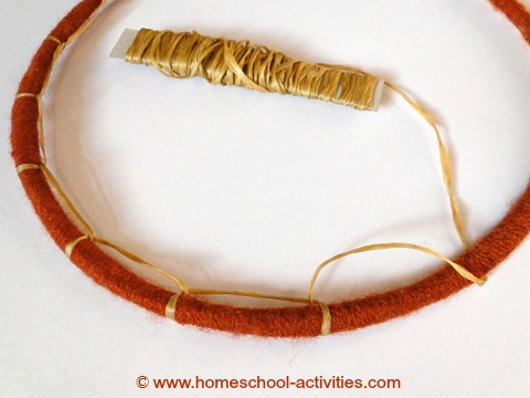 how to make a dream catcher stage two