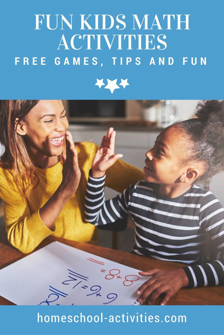 fun kids math activities and games