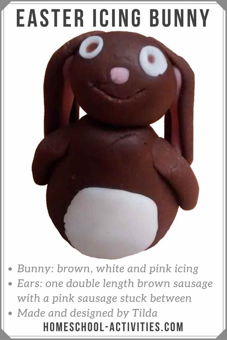 Easter bunny made from icing