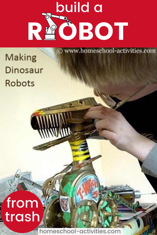 Build a dinosaur robot
