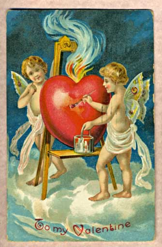antique Valentine's Day card
