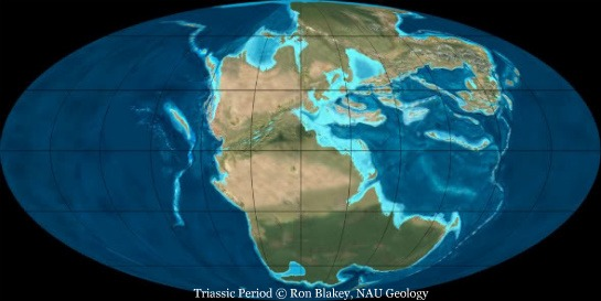 Triassic period map