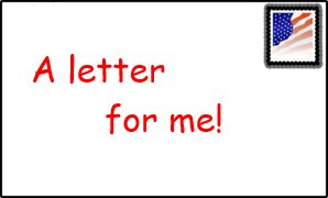 a letter for me