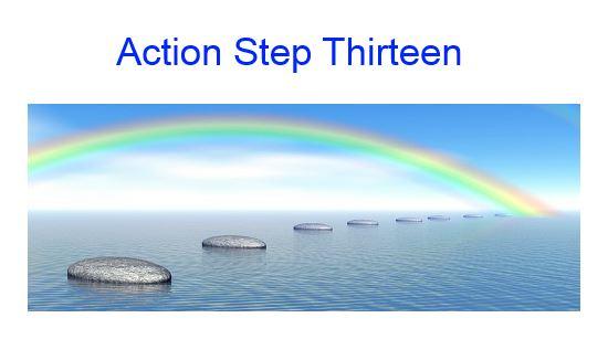 action step thirteen