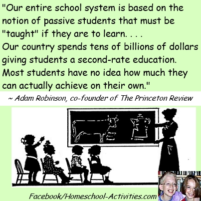 quote from Adam Robinson, co-founder of the Princeton Review