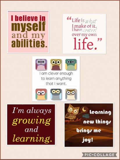 Homeschooling Affirmations collage