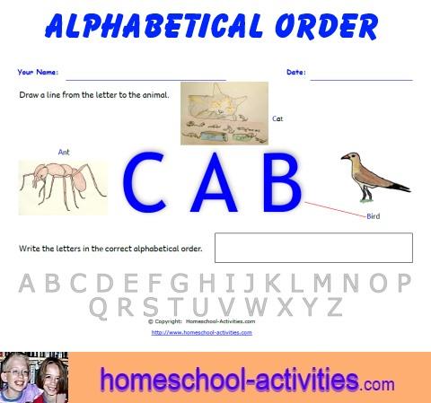 Free Alphabetical Order Worksheets: Printable Homeschooling Fun