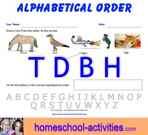 Free Alphabetical Order Worksheets Printable Homeschooling Fun