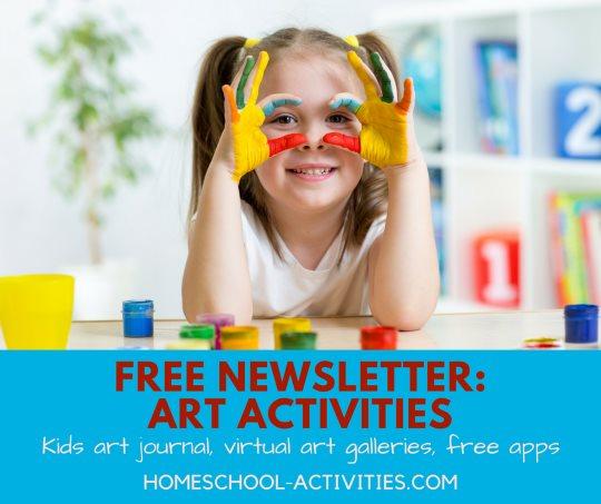 free newsletter on fun art activities