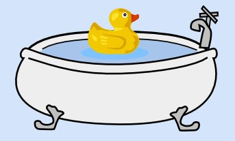 baby bath with duck