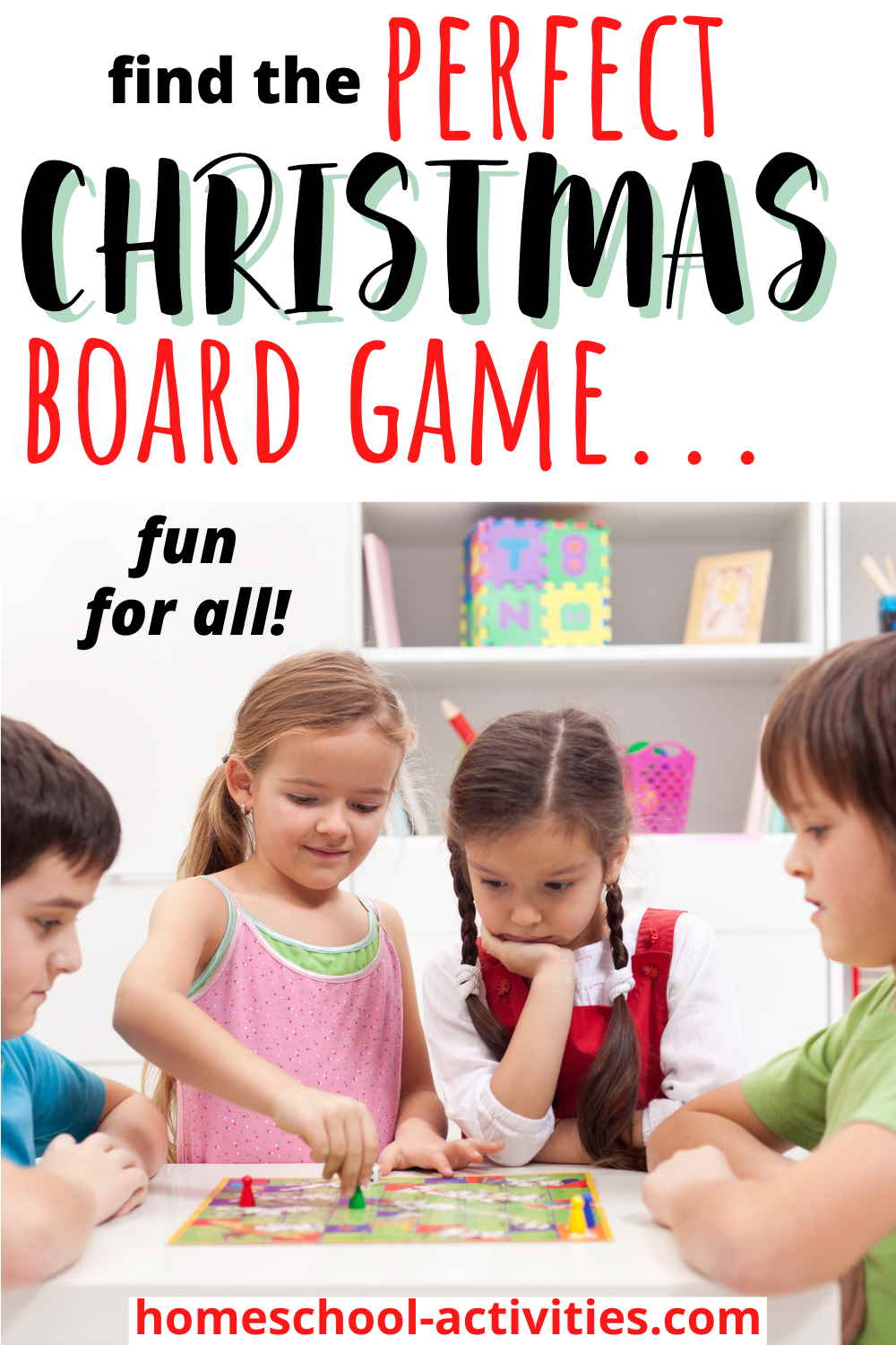 Christmas board games for kids and the whole family