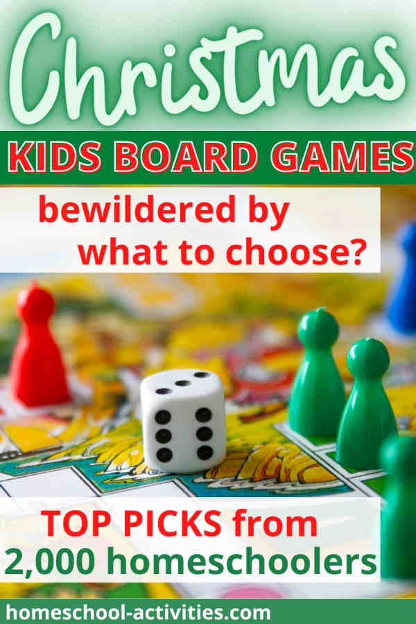 Christmas educational board games recommended by homeschoolers