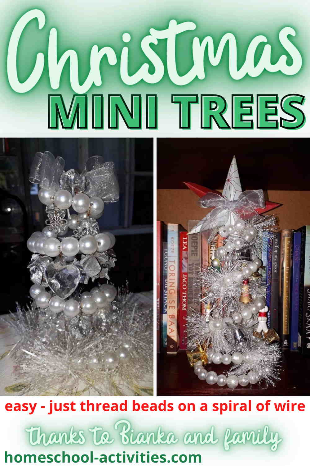 Christmas mini trees made from wire