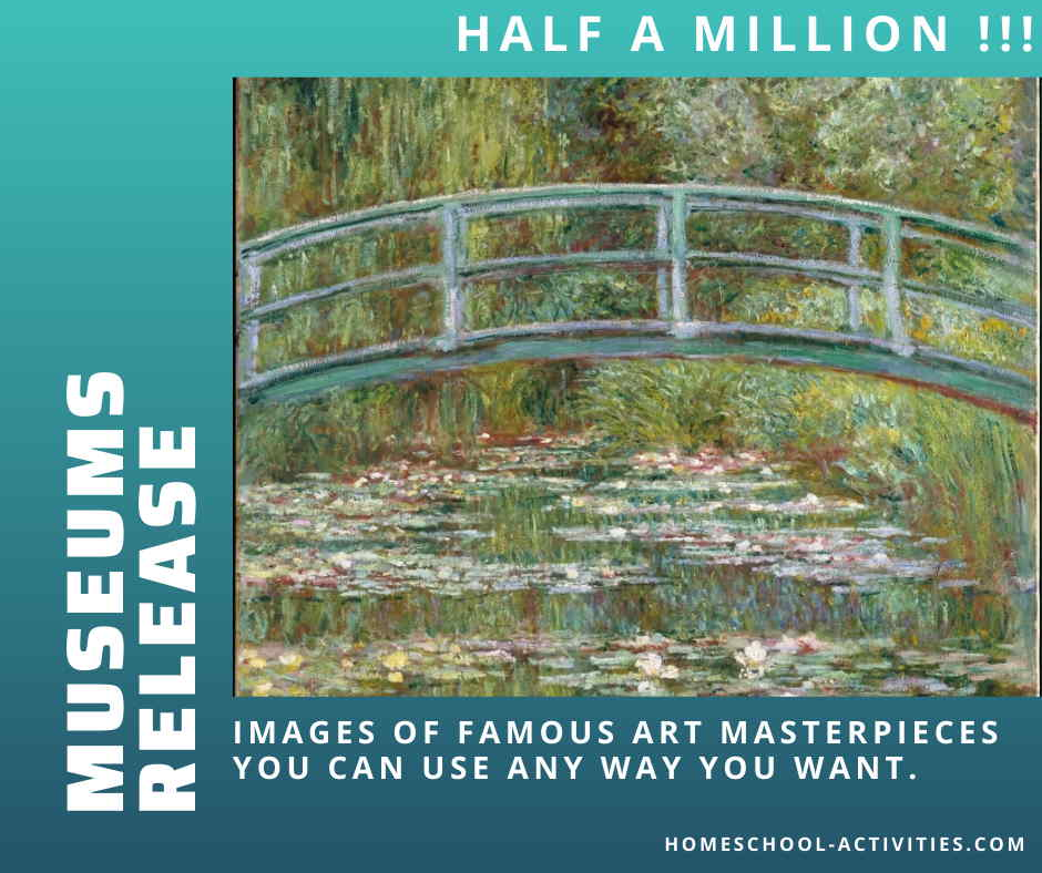 Museums release over half a million free images of famous paintings including this one by Claude Monet