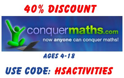 40 per cent discount on conquer maths price