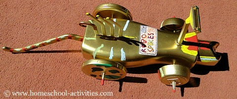 Recycled robot robo spikes