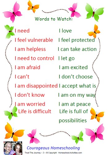 negative words which can make homeschooling really tough