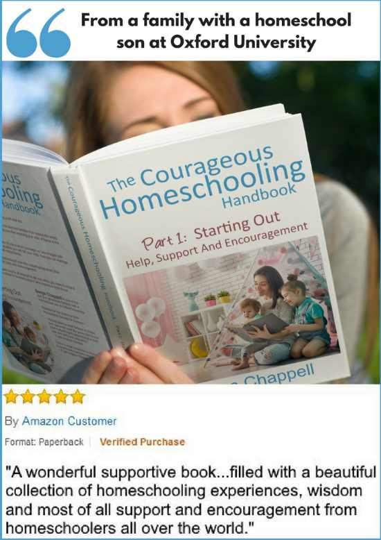 The Courageous Homeschooling Handbook part one for those starting teaching their child at home.