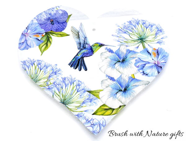 Decoupage beginners kit to make a wooden heart with napkins