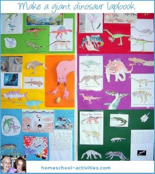 giant dinosaur lapbook