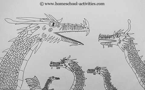 Dragon Coloring Pages on Dragon Coloring Pages  Printable