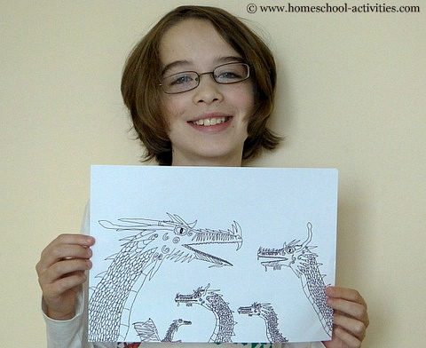 How To Draw A Dragon Art Projects For Kids