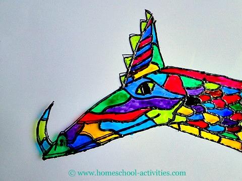 dragon glass painting