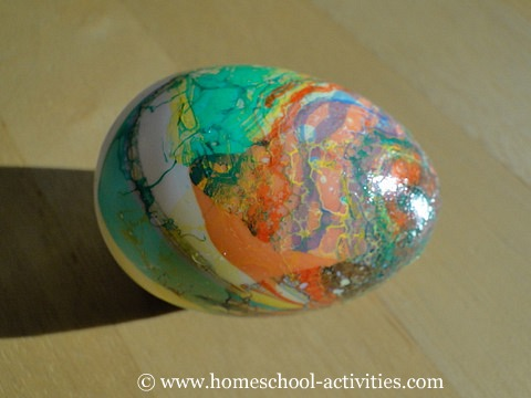 Craft Ideas  Paper Cups on Easter Crafts For Kids Is Decorating Eggs With Marbling