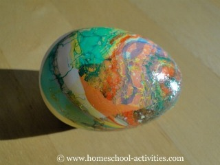 marbled egg
