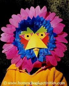paper plate bird mask