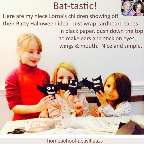 halloween crafts bats from cardboard tubes