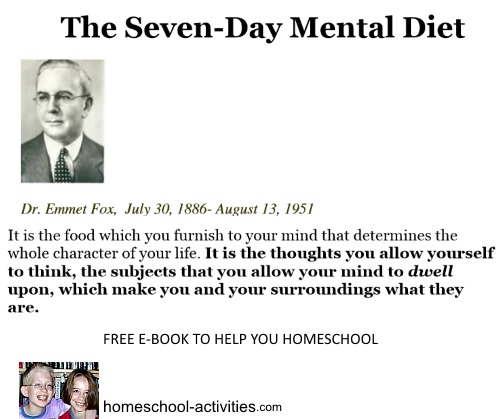 Dr Emmet Fox quote from the Seven Day Mental Diet