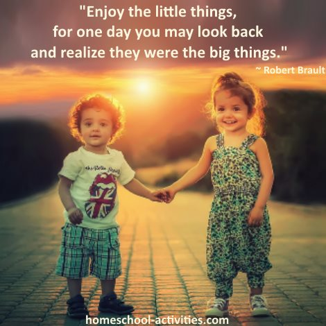 L R Knost quote: enjoy the little things