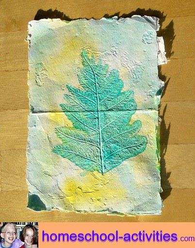 leaf homemade paper