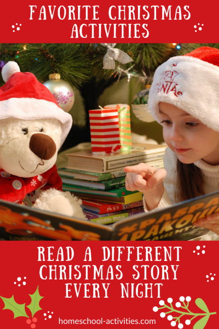 Favorite Christmas activities read a story