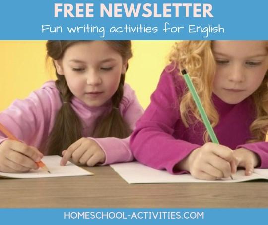 Free English writing activities newsletter