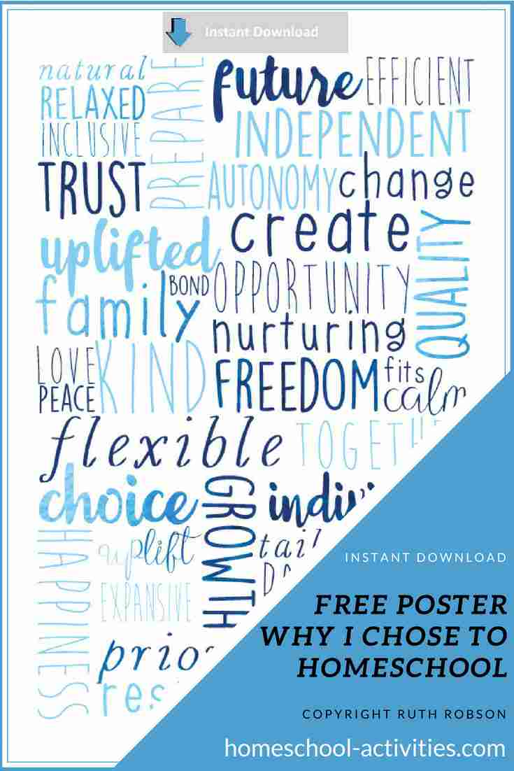 free home school poster