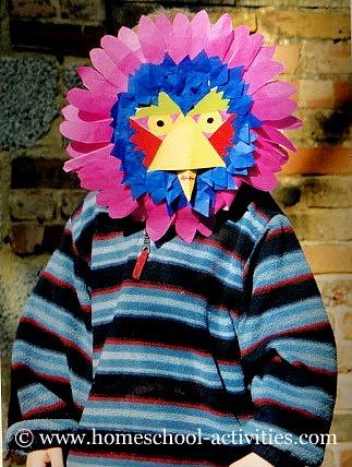 William wearing a bird mask